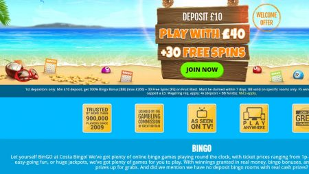 Costa Bingo leads the way in Jackpot Prizes