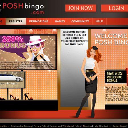 Posh Bingo for Luxury Gaming Online in 2021